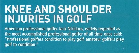 [Circular] Knee & Shoulder Injuries in Golf